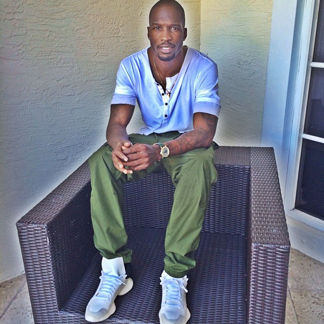 Chad Johnson wearing Rick Owens x adidas Running Shoe