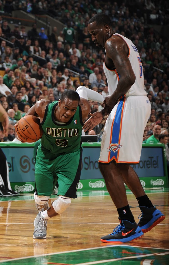 Continuing his unpredictable ways when it comes to his on-court footwear, Rajon Rondo rocked the upcoming \u0026quot;Cool Grey\u0026quot; Air Jordan 9 Retro as his Celtics down ...