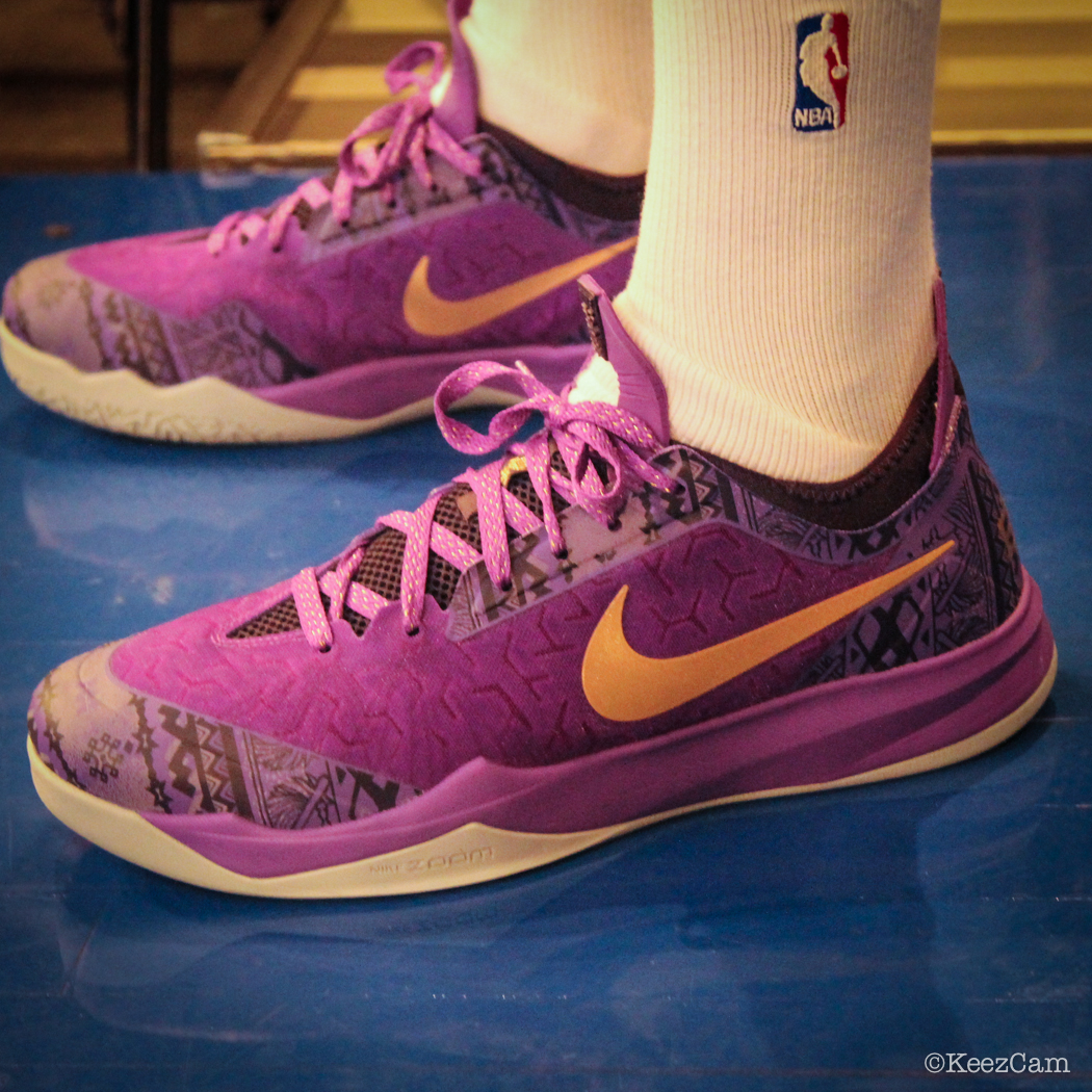 Sole Watch: Up Close At MSG for Knicks vs Nets - Toure' Murry wearing Nike Zoom Crusader BHM