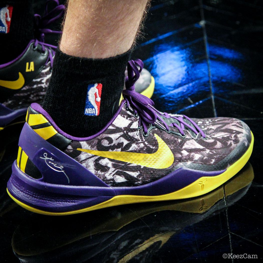 SoleWatch // Up Close At Barclays for Nets vs Lakers - Steve Blake wearing Nike Kobe 8 iD