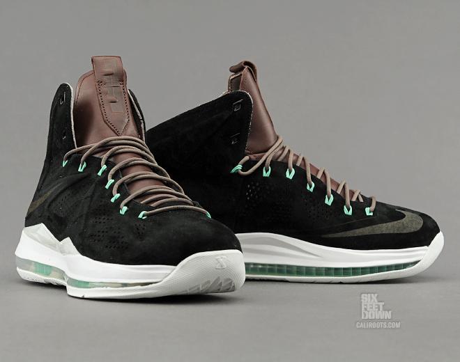 ad33094cfd47e7 7 20 13 Nike LeBron X EXT QS 607078-001 Black Black-Dark Field Brown -Tourmaline