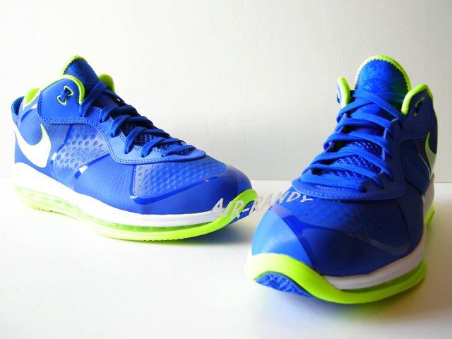 fa46a5ec336 Nike Air Max LeBron 8 V 2 Low Treasure Blue White Volt 456849-401