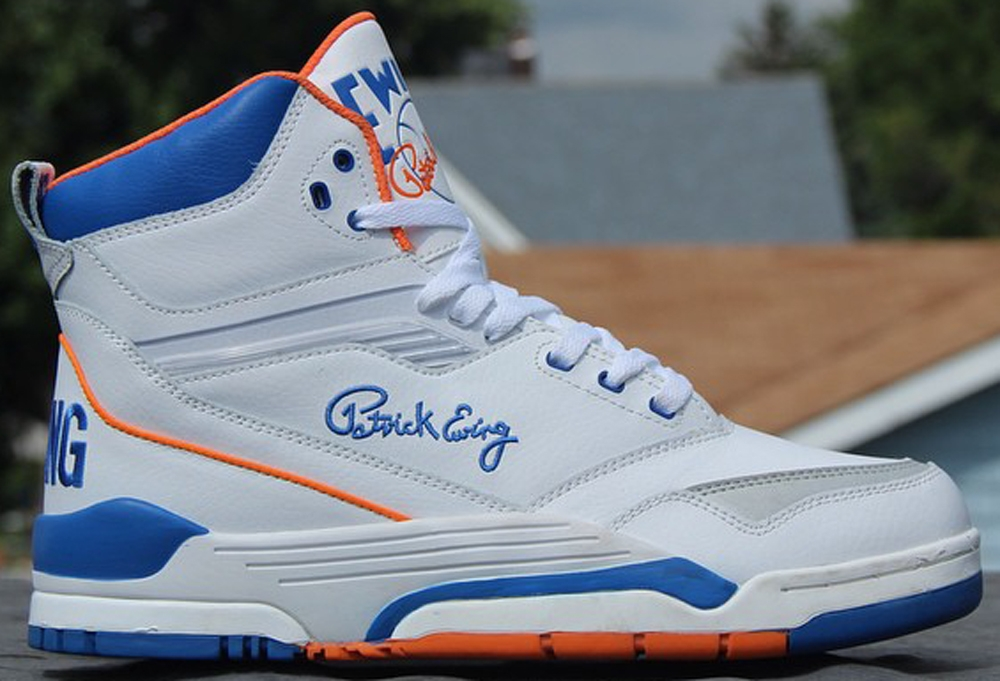 Ewing Athletics Ewing Center Hi White/Prince Blue-Vibrant Orange