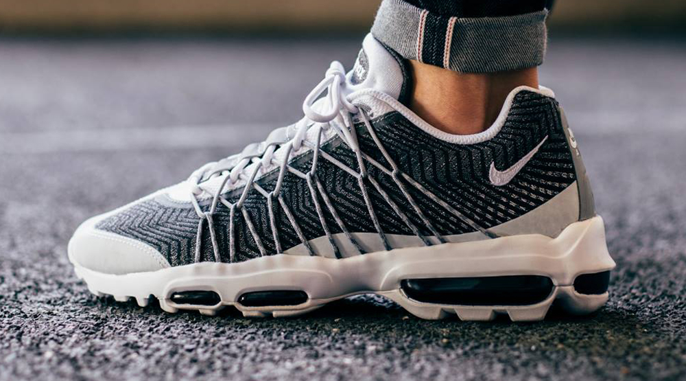 nike air max 95 ultra jacquard white and black