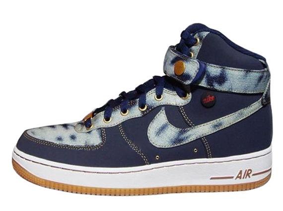 hot sale online 01eee bca97 Nike Air Force 1 High - Acid Wash Denim