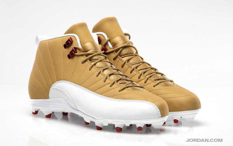 Michael Crabtree's Air Jordan 12 XII PE Gold