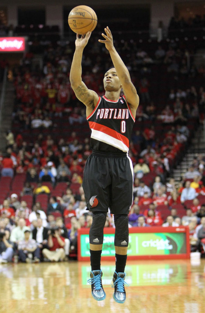Damian Lillard wearing adidas Rose 3.5 Year of the Snake (1)