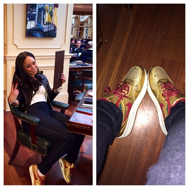 Tahiry Jose wearing Nike Air Max 1 BHM