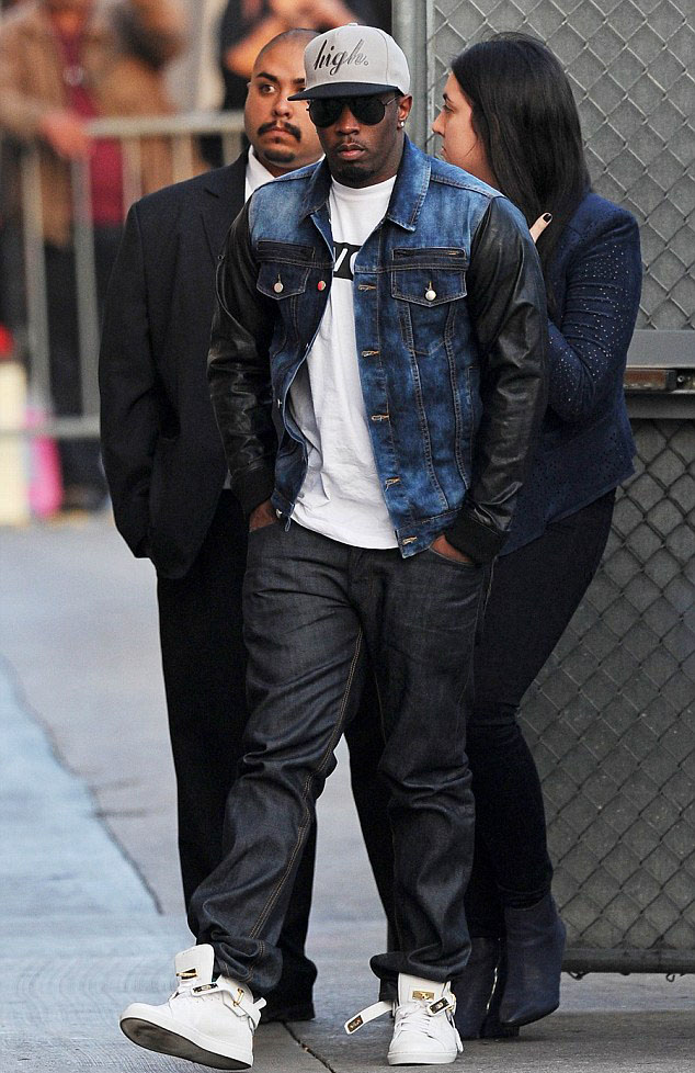 Diddy wearing Buscemi 100mm White