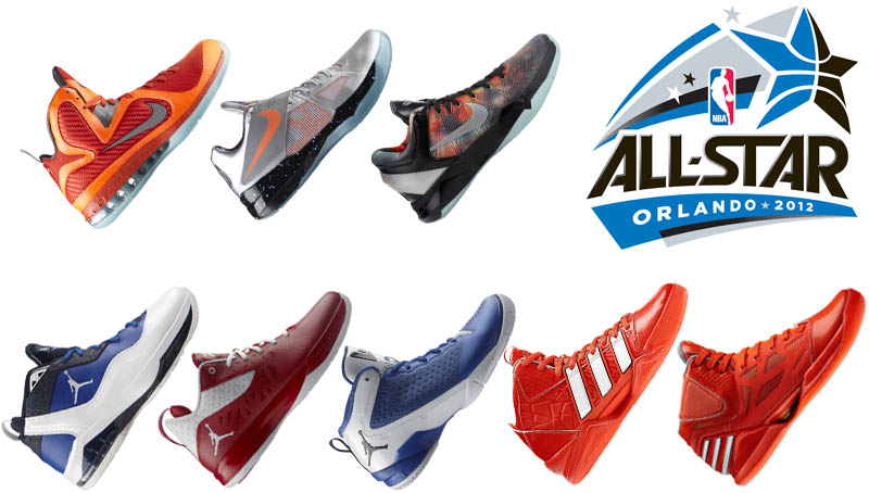 NBA All-Star 2012 Signature Shoes Nike Air Jordan adidas