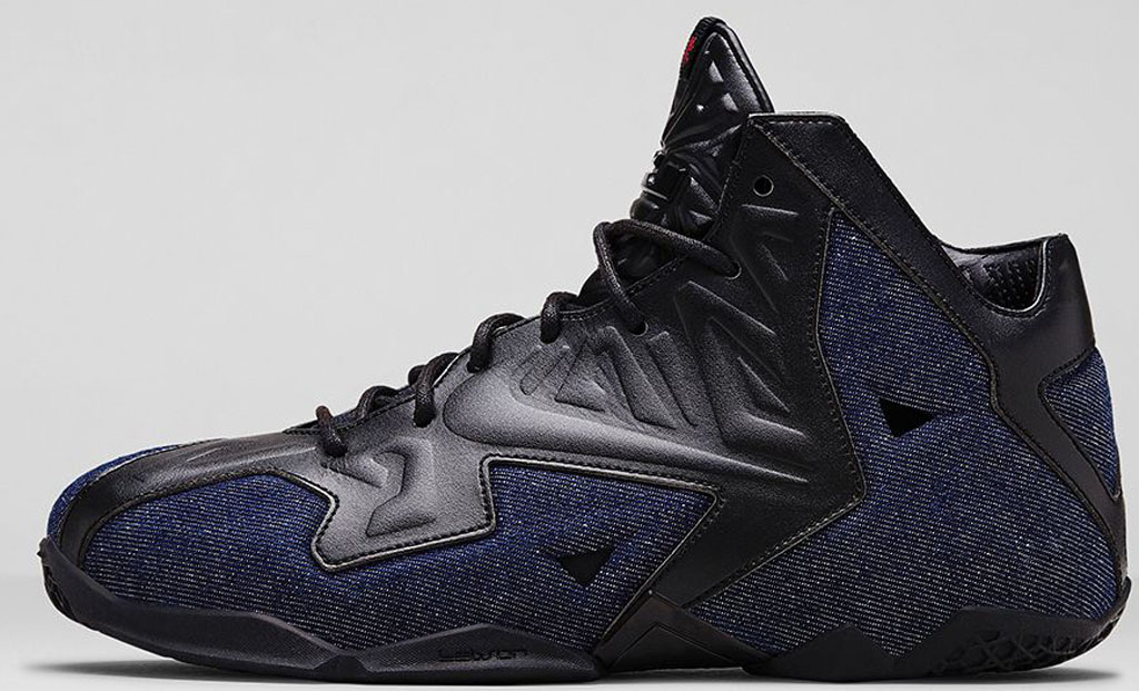 197db14635b Nike LeBron 11 EXT Denim QS  James Dean  656274-004 Black Black-Denim 04 26  2014