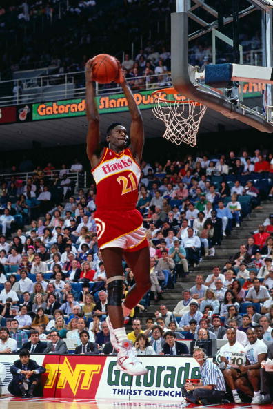 Dominique Wilkins wearing the Reebok Pump Bringback