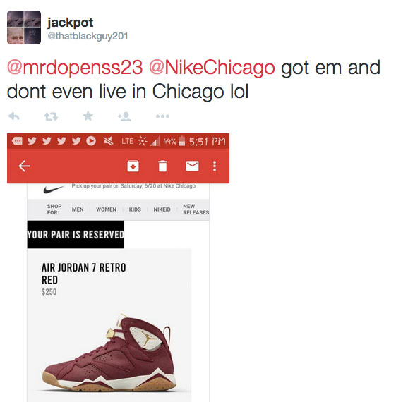 Nike Chicago Launches Online Raffle System But Out of Towners Are Winning (1)