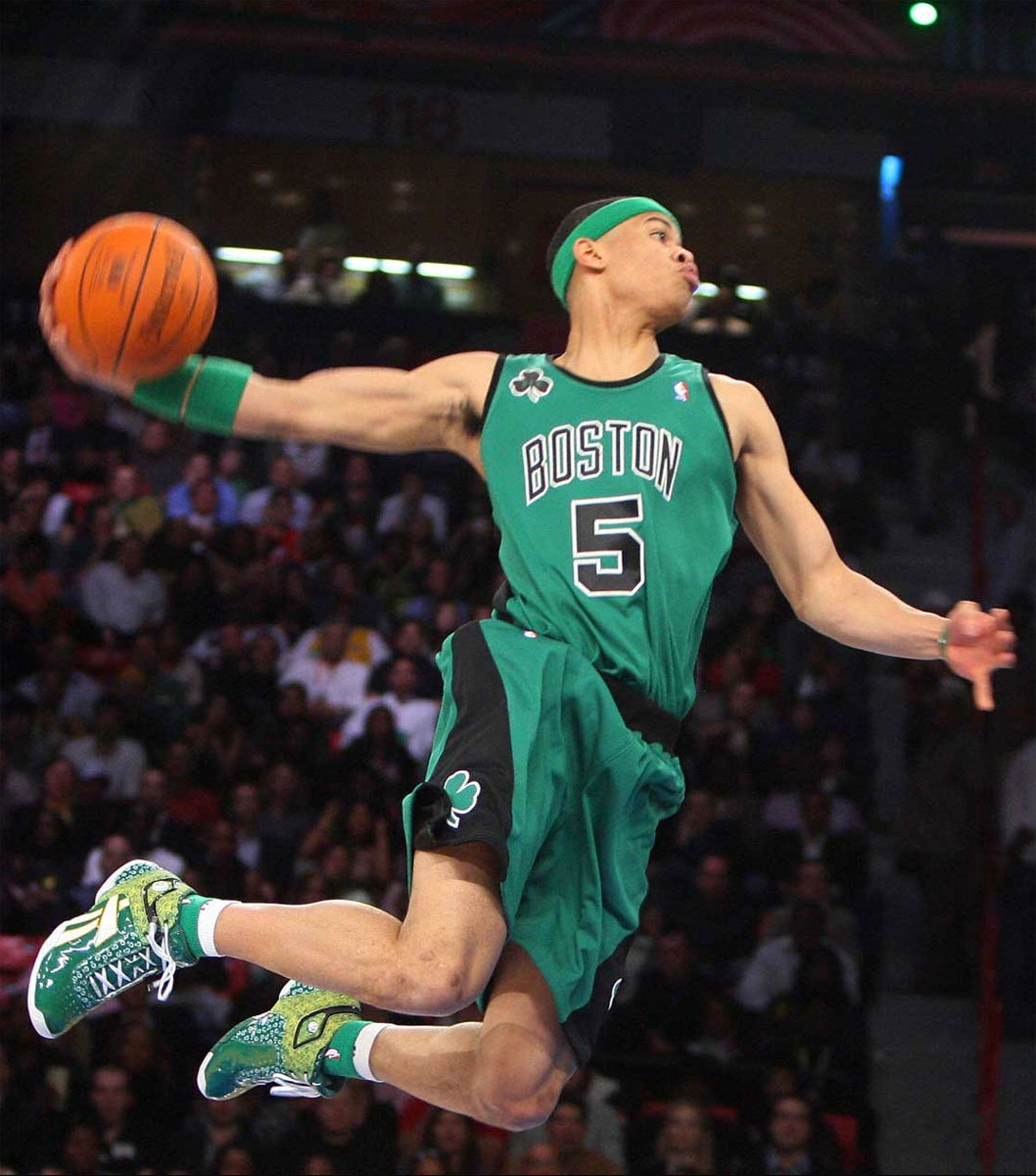 Gerald Green wearing the Reebok Pump Show Stopper G2 in the 2007 NBA Dunk Contest