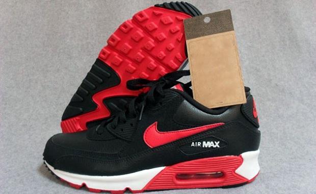 air max 90 essential black red