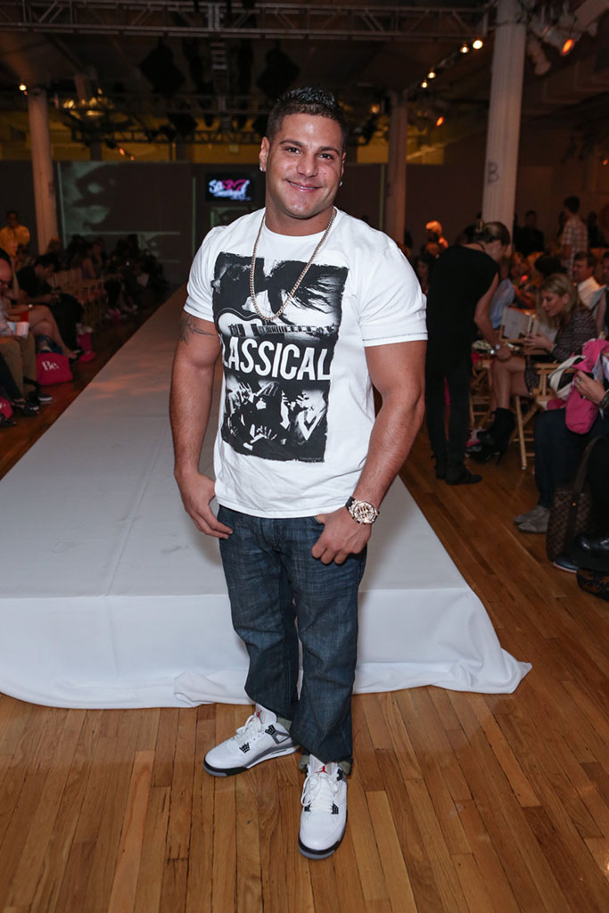 Ronnie Ortiz-Magro Wears Air Jordan IV 4 Cement (1)