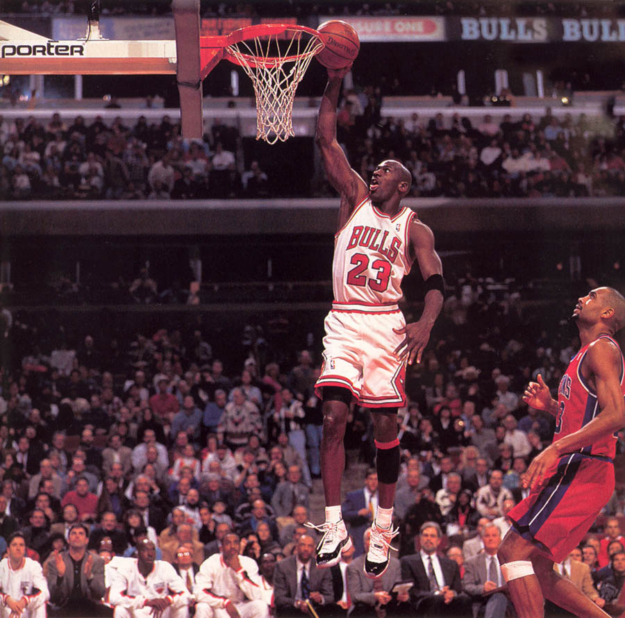 Michael Jordan wearing Air Jordan XI 11 Concord (2)