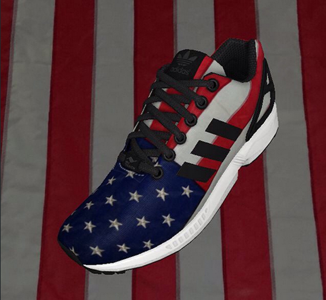 Adidas Zx Flux Smooth Trainers lesleypearson.co.uk