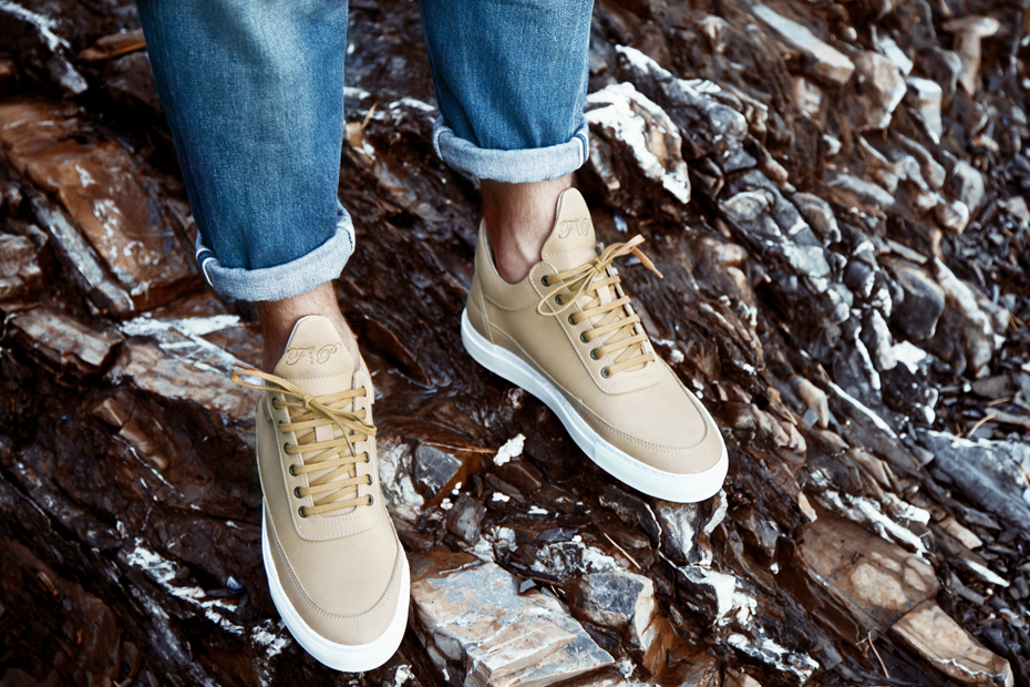 Filling Pieces AW 13 low top tan leather