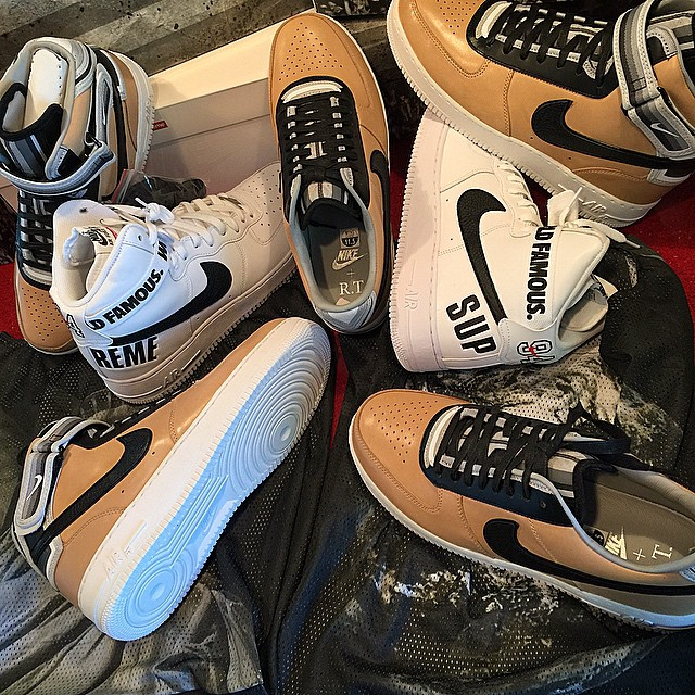 DJ Skee Picks Up Nike Air Force 1 RT & Supreme x Nike Air Force 1 High