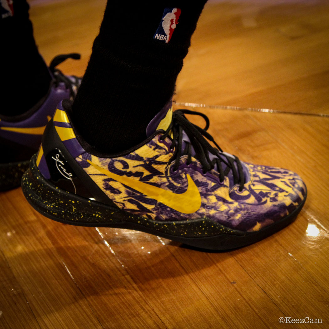 SoleWatch // Up Close At Barclays for Nets vs Lakers - Jordan Farmar wearing Nike Kobe 8 iD
