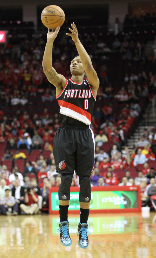 Damian Lillard wearing adidas Rose 3.5 Year of the Snake
