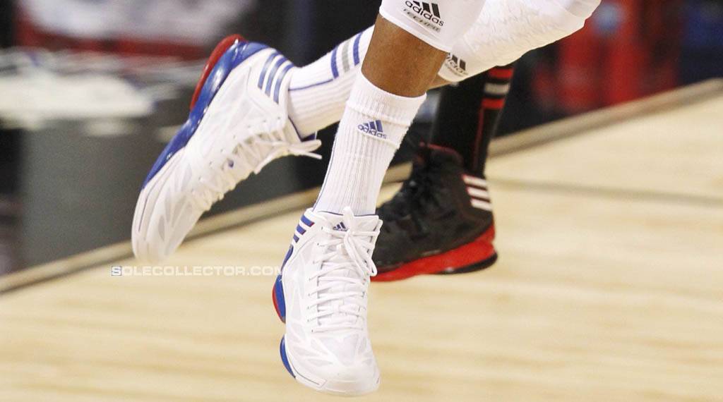 adidas adiZero Crazy Light 2 Kansas Jayhawks White Blue Red (6)