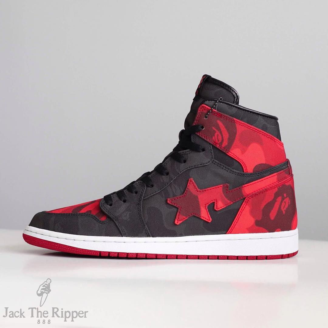 BAPE x Air Jordan 1 Banned Custom by Jack the Ripper Side