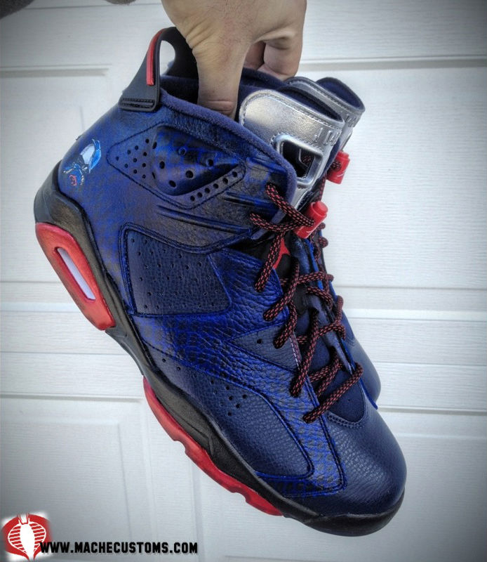 Air Jordan VI 6 Cobra Commander by Mache Custom Kicks (5)