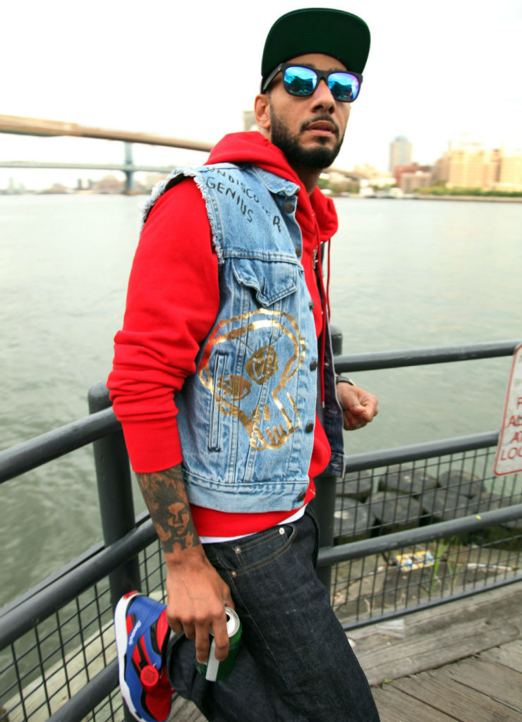 Swizz Beatz wearing Reebok Twilight Zone Pump Spider Man (7)