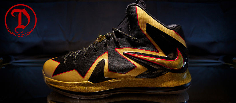 Nike LeBron X PS Elite Championship For LeBron James By Dank Customs (8)