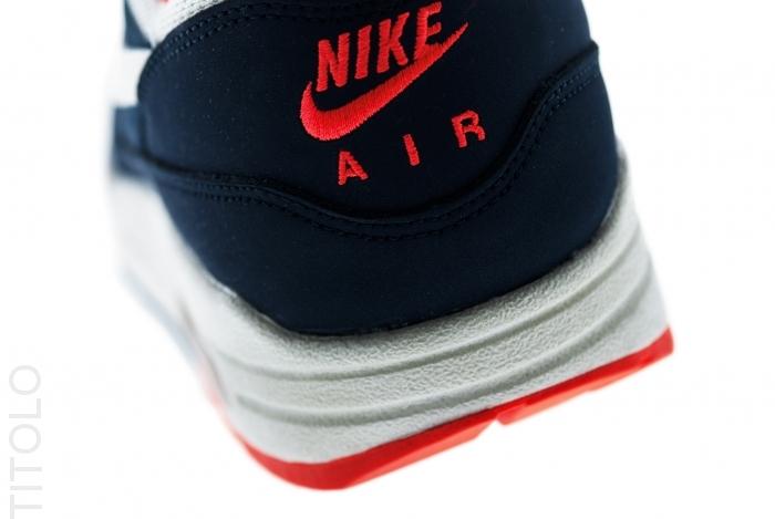 fd31e8e1ea4d Nike Air Max 1 Essential - Total Crimson   Sail   Squadron Blue ...