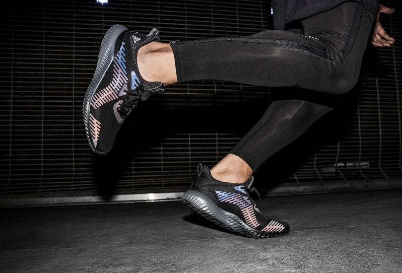pretty nice d8982 ed94a Image via Adidas Alphabounce Xeno On Feet Image via Adidas Triple Black ...