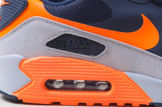 Nike Air Max 90 Hyperfuse Bears Navy Grey Bright Orange (4)