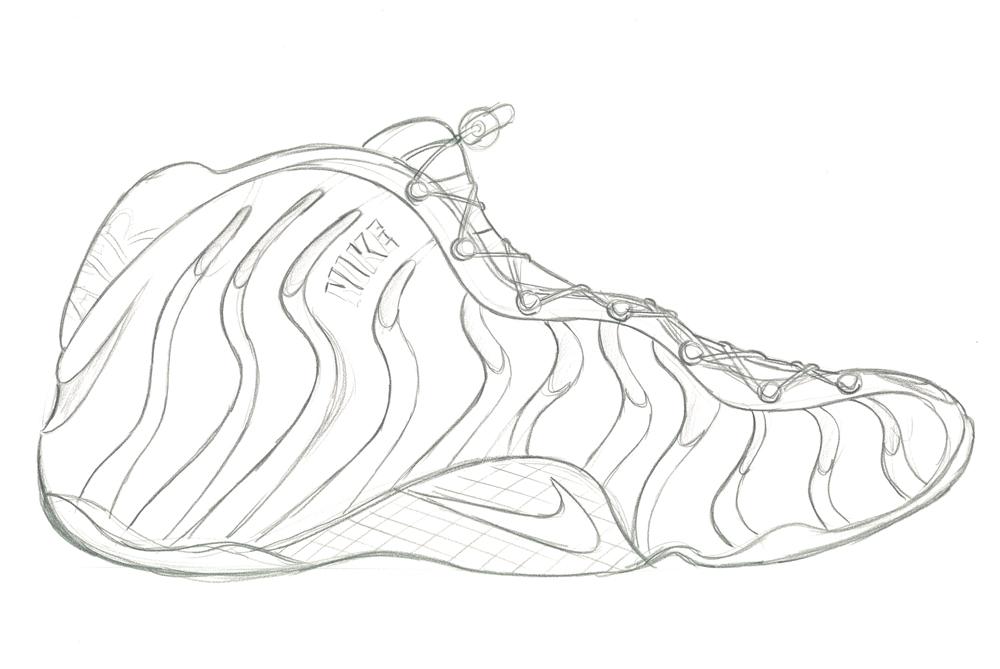 Sneaker Sketch Of The Week Eric Avar S Nike Foamposite