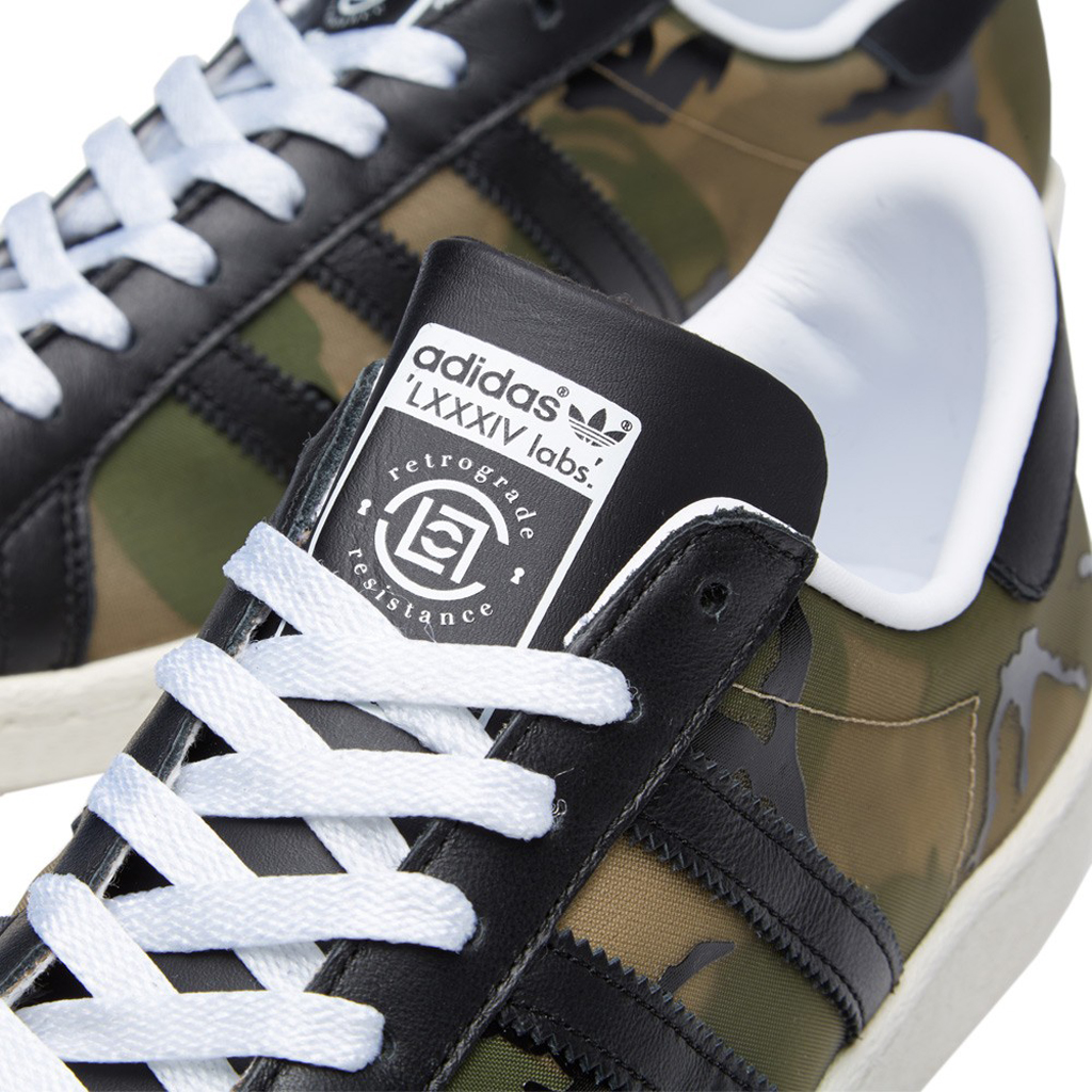 cheap for discount b4897 fa4e3 The CLOT x KZK Camo Superstar 80s is available now at select adidas  retailers such as END.