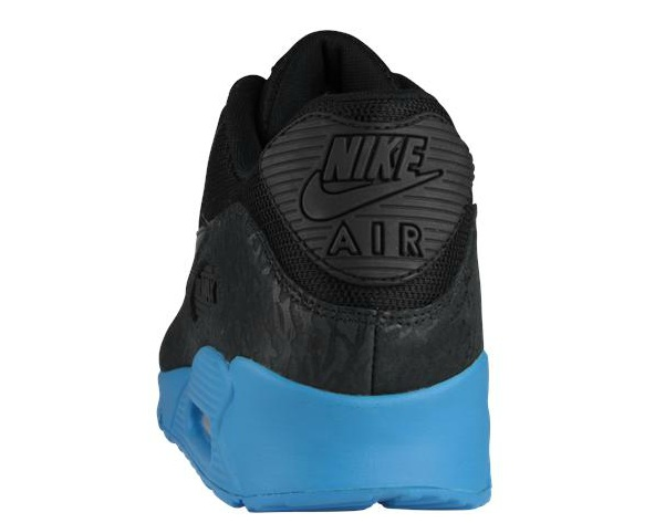new product 2dea1 7ed02 The Nike Air Max 90 in Black   Black   Blue Glow is available now at  Footlocker EU locations.