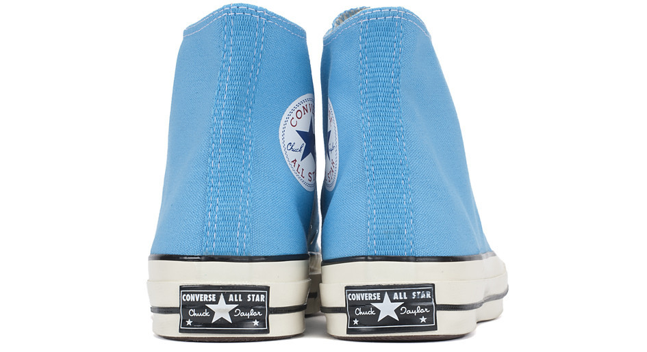 6ca78ec22844 ... compared to today s Chuck. This pair in  Heritage Blue  is available  now from select Converse First String stockists