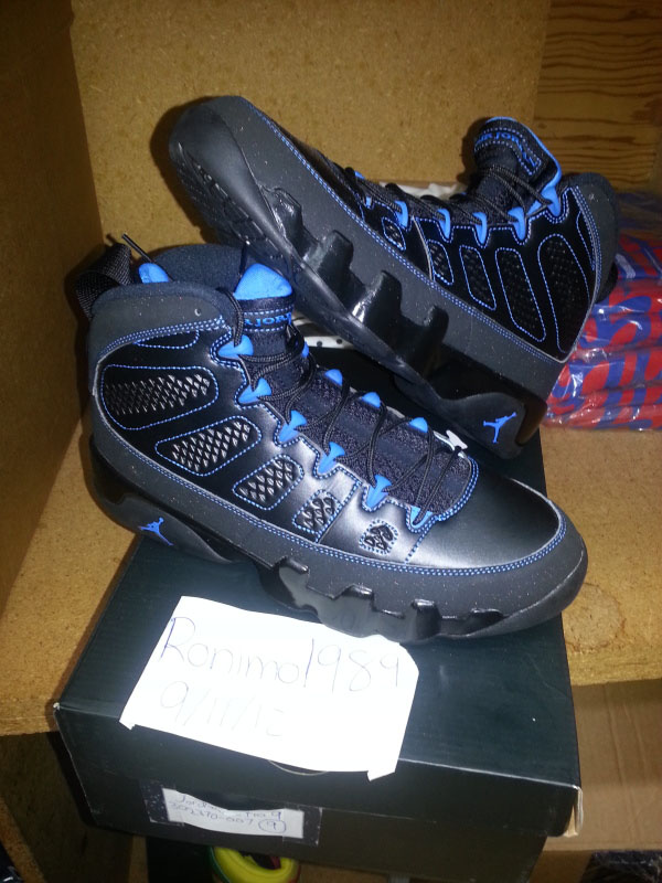 new style 99948 45afc Air Jordan Retro 9 - Black/Photo Blue - Black Sole Error ...