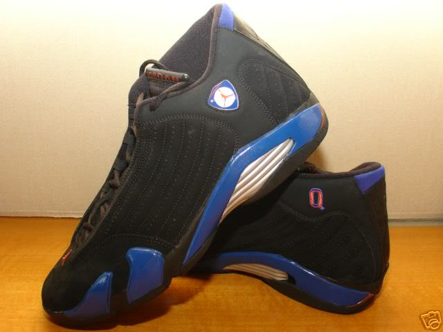 Quentin Richardson wearing Air Jordan XIV 14 New York Knicks Away PE (2)