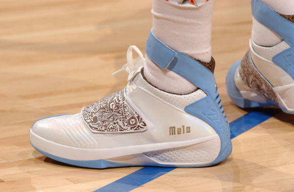 Carmelo Anthony wearing Air Jordan 20 Nuggets PE (2)