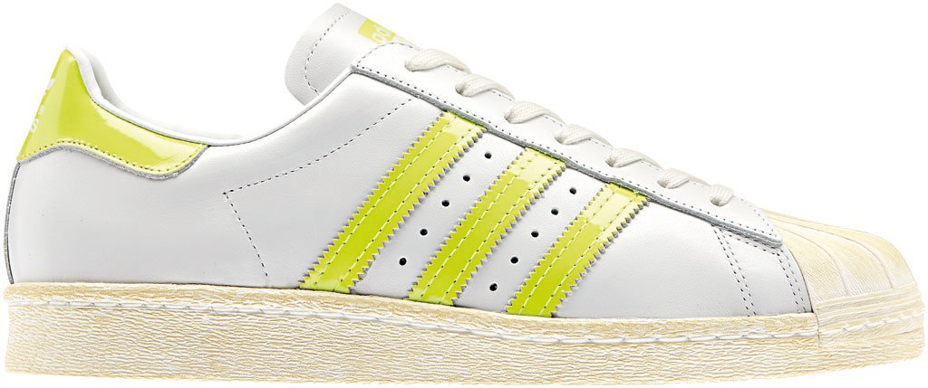 adidas Originals Superstar 80s - Spring/Summer 2014 - White/Neon (2)