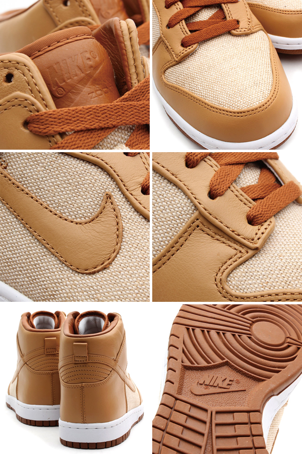 Nike Dunk High PRM SP 'Acorn' details