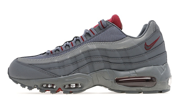 Nike Air Max 95 Jd Cool Grey Team Red Sole Collector