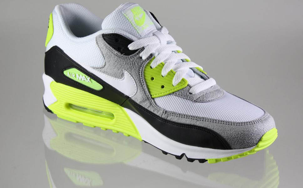 Nike Air Max 90 Black White Medium Grey Volt 325018-048 (5)