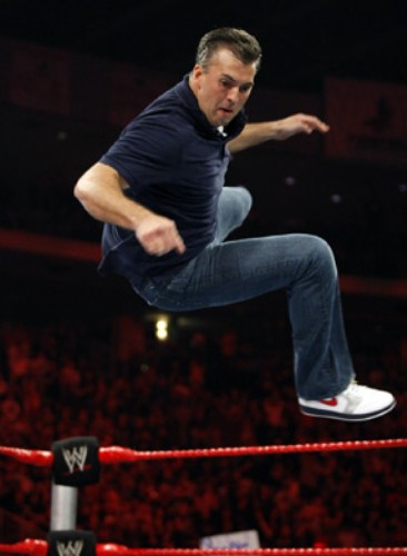 Shane McMahon wearing the Air Jordan Retro 1 Olympic