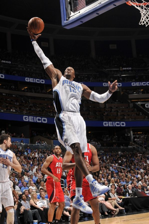 "Dwight Howard wearing the adidas Superbeast - White/Bright Silver ""Home"""
