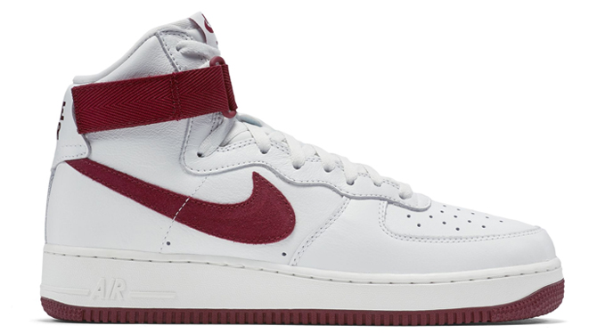 nike air force 1 high white red