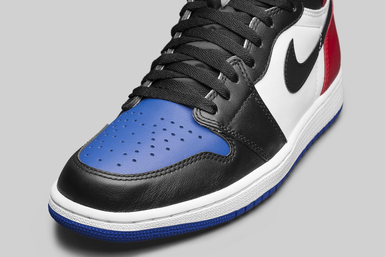 Image via Nike Air Jordan 1 Top Three 555088-026 Toe d4209bcf9