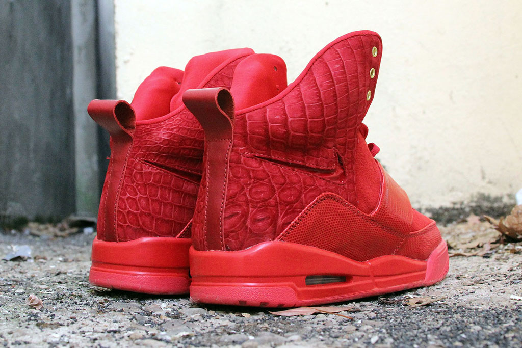 Nike Air Yeezy 'Red Croc Lizard Suede' by JBF Customs (3)